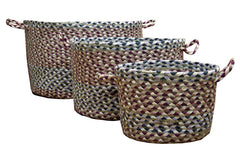 Burgundy/Ivory Utility Baskets In Different Sizes