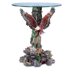 Eagle Glass Top Accent Table