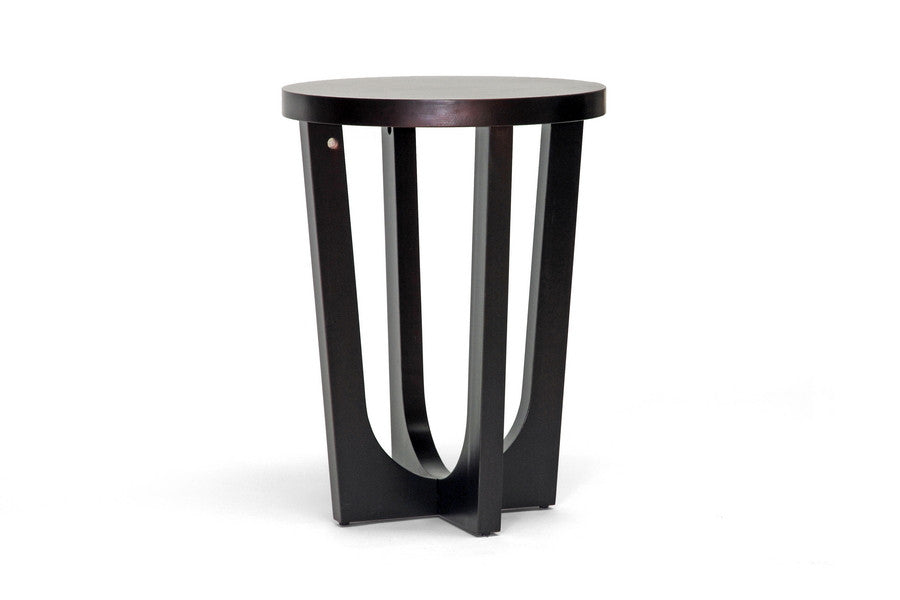 Baxton Studio Pinta Dark Brown Modern End Table