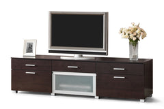 Baxton Studio Basilio Dark Brown Modern TV Stand