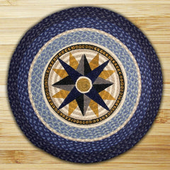 Compass Round Patch Rug