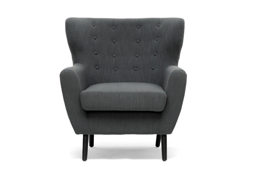 Baxton Studio Lombardi Linen Club Chair