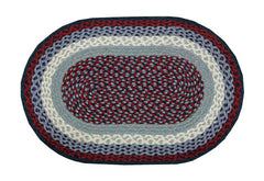 Blue or Burgundy Braided Rug in Different Shapes And Sizes