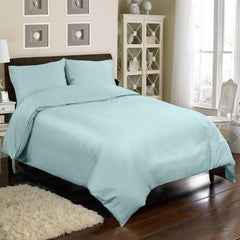 300TC 4 PC DUVET SET IN BLUE