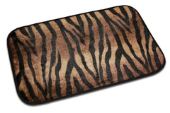 Animal Design Zebra Bath Mat, Zebra Chocolate & Beige Design
