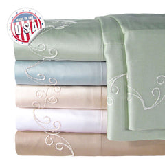 300TC SCROLL PILLOWCASE PAIR IN DIFFERENT COLORS AND SIZES