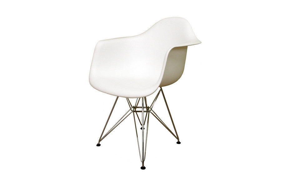 Baxton Studio Dario White Molded Plastic Chair