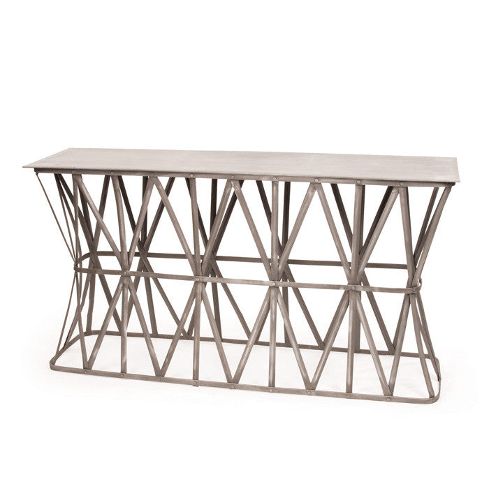 Steel Criss Cross Console