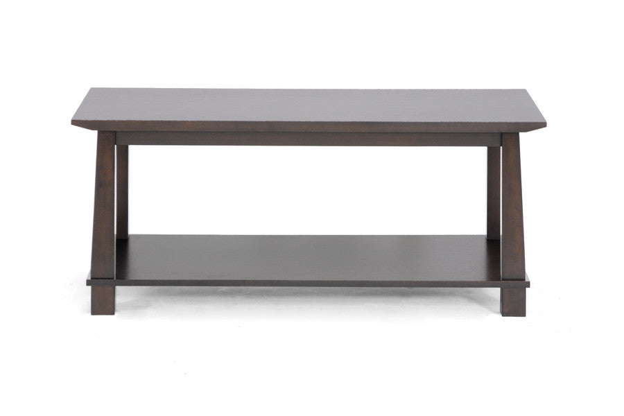 Baxton Studio Havana Brown Wood Modern Coffee Table