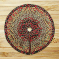 Burgundy/Black/Sage Braided Tree Skirt In Different Sizes