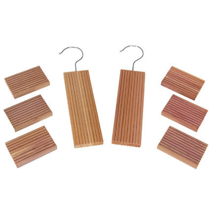 8pc Cedar Storage Set Blocks and Hang Ups