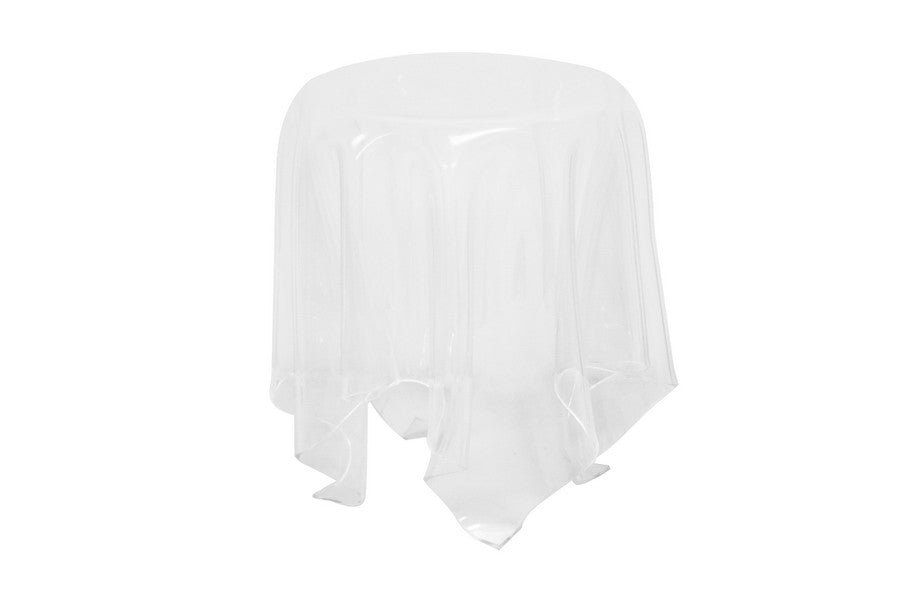 Baxton Studio Blair Clear Acrylic Modern Tablecloth Illusion Table