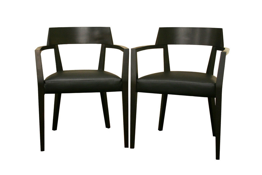 Baxton Studio Laine Wenge Dining Chair Set of 2