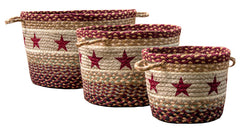 Burgundy Star Utility Basket In Different Sizes