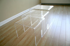 Baxton Studio Acrylic Nesting Table 3-Pc
