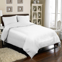 300TC 4 PC DUVET SET IN WHITE