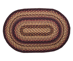 Black Cherry/Chocolate/Cream Braided Rug In Different Shapes And Sizes