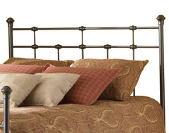 Anzy Dexter Hammered Brown Iron Headboard in FULL