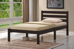 Anzy Short Headboard Platform Bed with Slats In Different Colors And Sizes