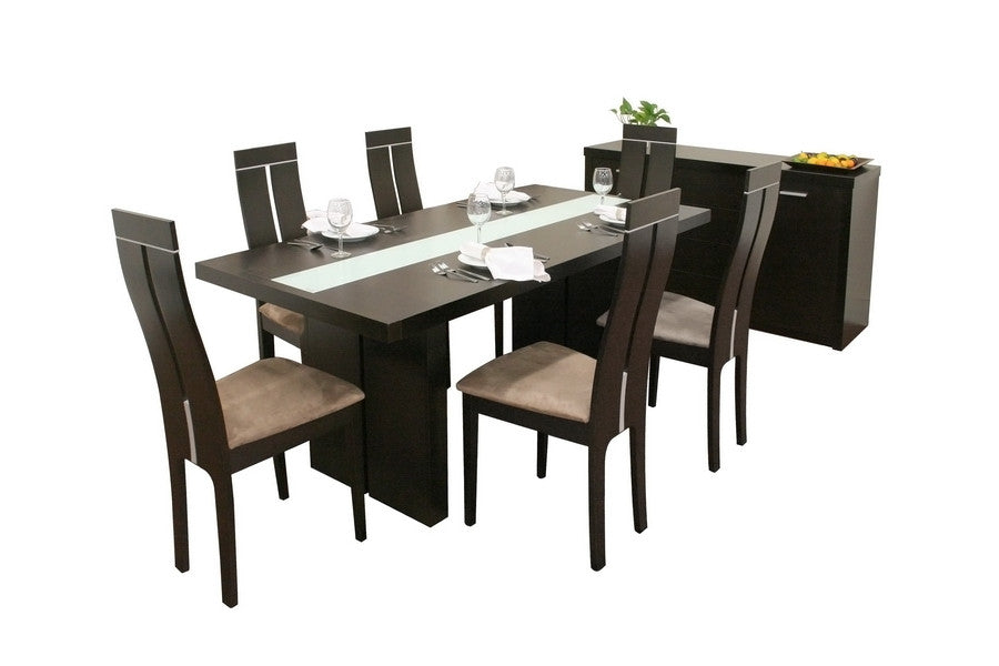 Baxton Studio Magness 8 Piece Modern Dining Set