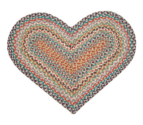 "Heart Multi 1 Braided Rug In 20""x30"" Size"