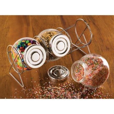 Glass Containers w/Stand