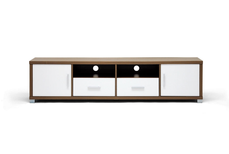 Baxton Studio Chisholm Walnut Effect  TV Cabinet
