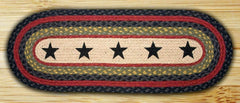 Amazing Stars Oval Patch Runner In Different Sizes