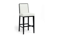 Baxton Studio Theia Leather Modern Bar Stool