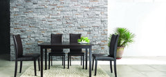 Baxton Studio Berreman Dark Brown 5 Piece Modern Dining Set