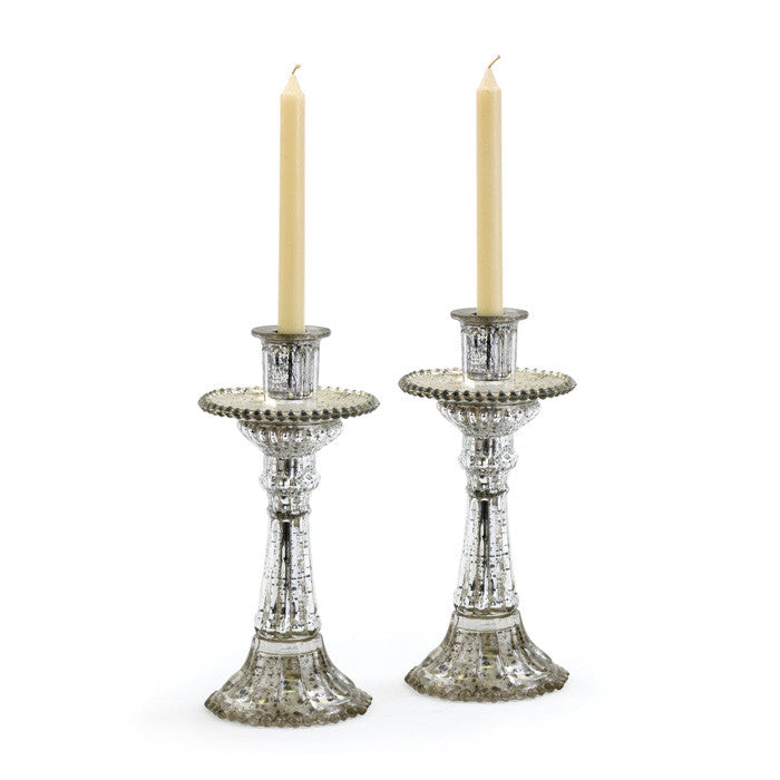 Glass Fountain Candleholders