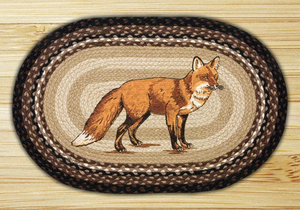 Fox Oval Patch Rug