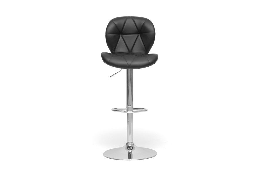 Baxton Studio Warsaw Black Modern Bar Stool