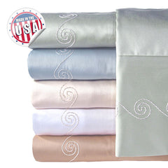 300TC SWIRL SHEET SET IN DIFFERENT COLORS AND SIZES