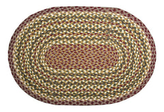 Amazing Olive/Burgundy/Gray Braided Rug