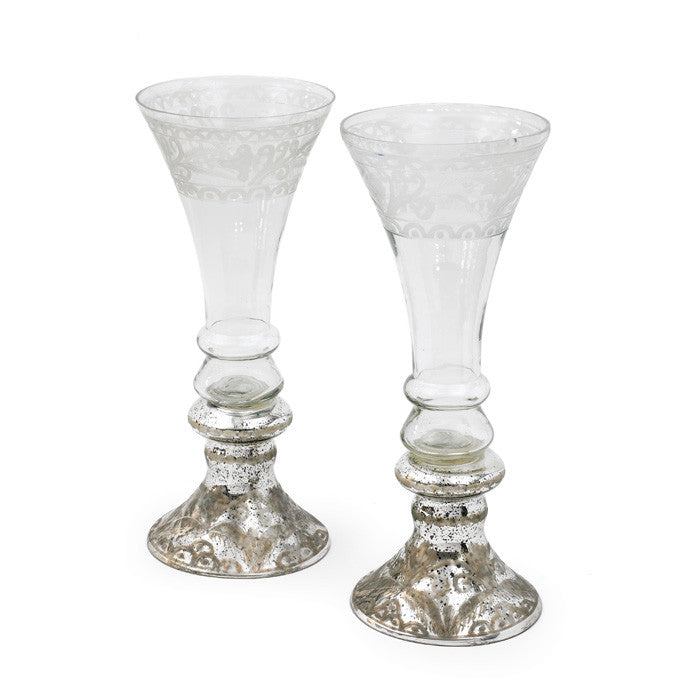 Pair of Medium Champagne Vases