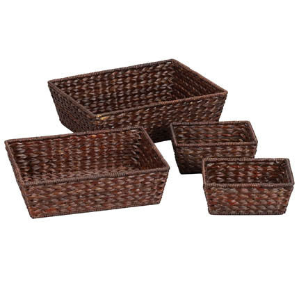 Banana Leaf Wicker Decorative Storage Baskets