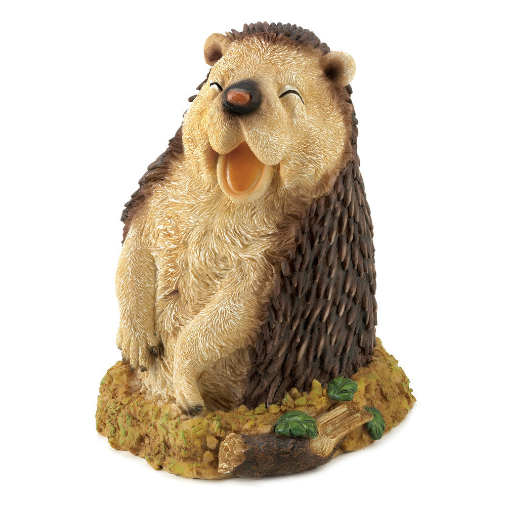 Happy Hedgehog Garden Figurine