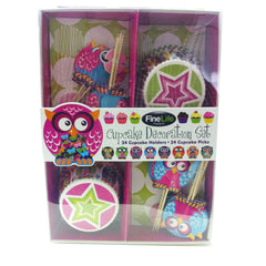 Owl Cupcake Decorating Set