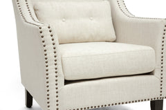 Baxton Studio Albany Linen Lounge Chair
