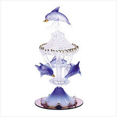 Spun Glass Dolphin Figurine