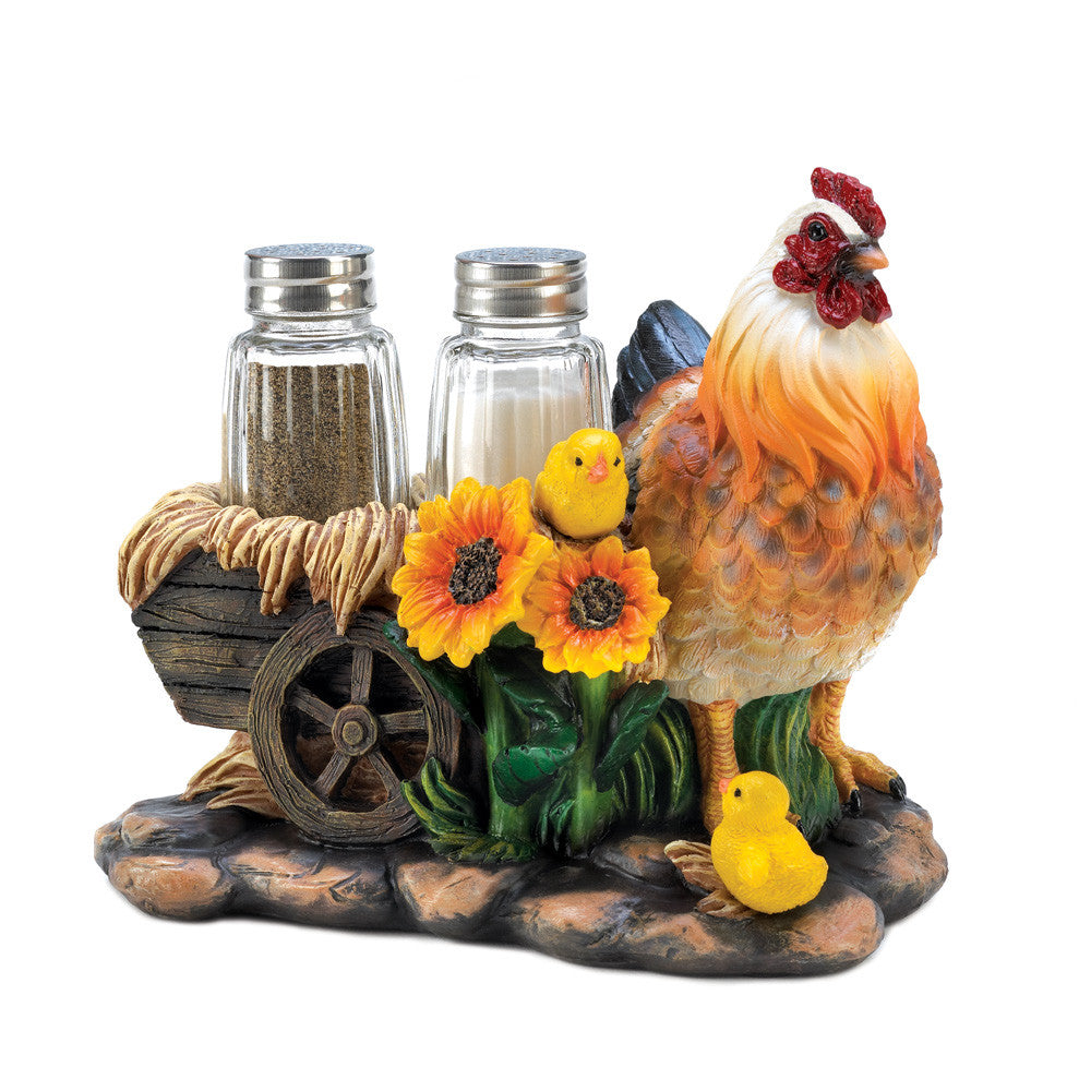 Chicken Cart Salt & Pepper Set