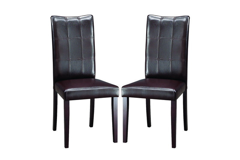 Baxton Studio Eden Dark Brown Dining Chair in Set of 2