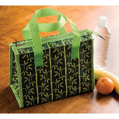 Bamboo Print Insulated Food Tote