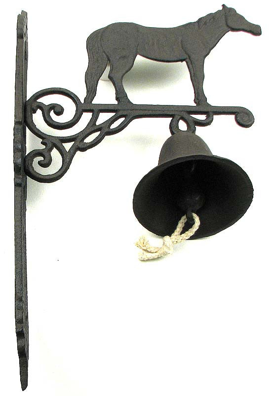 Decorative Cast Iron Horse Bell