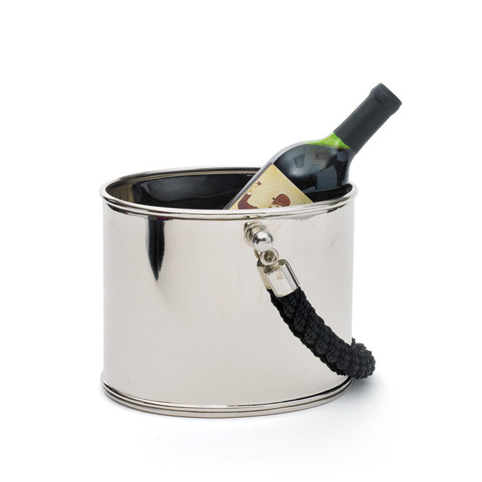 Polished Black Rope Ice Bucket