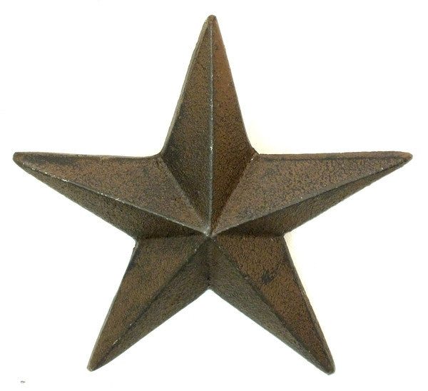 Cast Iron Nail Star - X-Large Set of 6