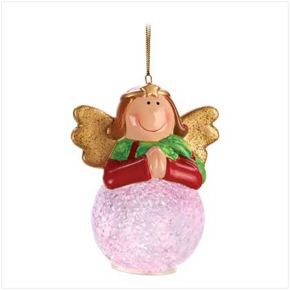 Angel Snowball Led Ornament