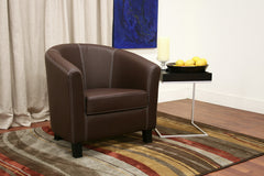 Baxton Studio Elijah Faux Leather Club Chair