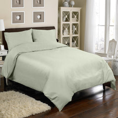 300TC 4 PC DUVET SET IN SAGE